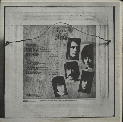 Deep Purple The Best Of Deep Purple vinyl LP album (LP record) US DEELPTH540627