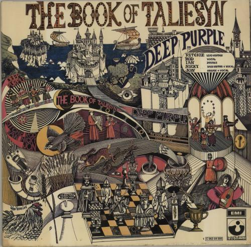 Deep Purple The Book Of Taliesyn - 1st vinyl LP album (LP record) German DEELPTH210079