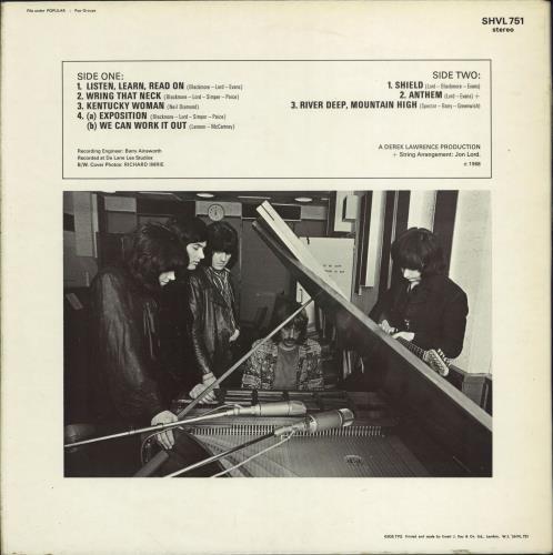 Deep Purple The Book Of Taliesyn - 2nd vinyl LP album (LP record) UK DEELPTH676801
