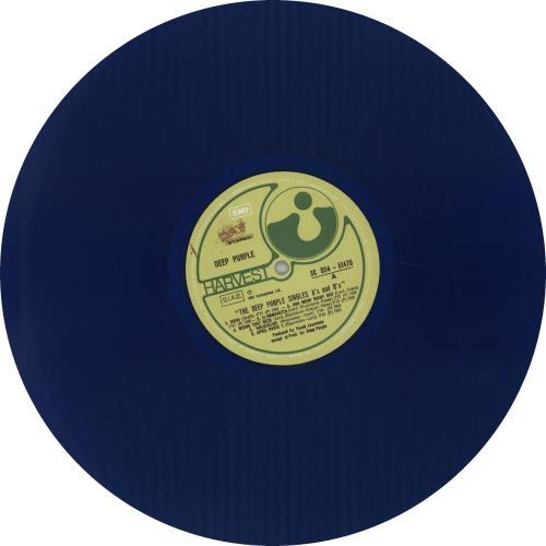 Deep Purple The Deep Purple Singles A's & B's - Blue vinyl LP album (LP record) Italian DEELPTH666421