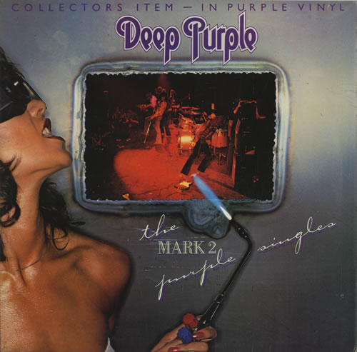 Deep Purple The Mark 2 Purple Singles - Purple Vinyl vinyl LP album (LP record) UK DEELPTH00595