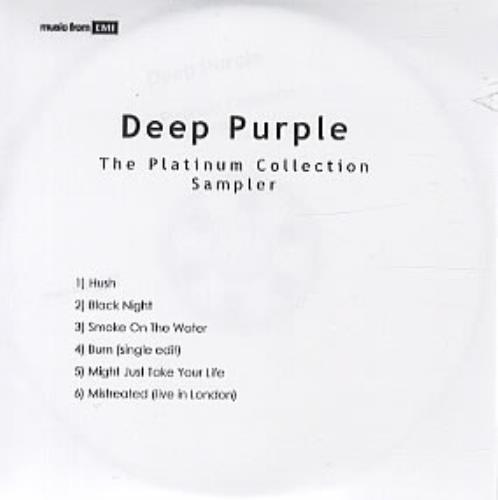 Deep Purple The Platinum Collection Sampler CD-R acetate UK DEECRTH328006