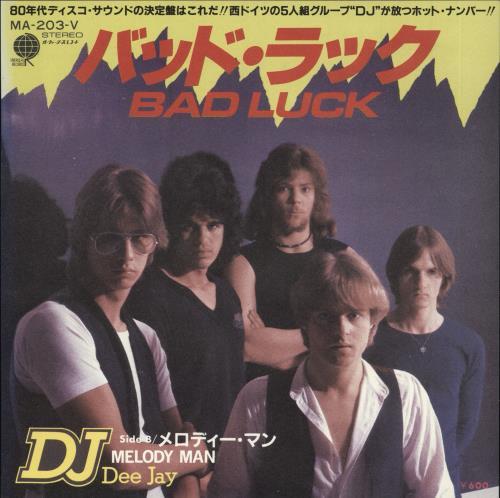 "Dee Jay Bad Luck + Insert 7"" vinyl single (7 inch record) Japanese ZVO07BA720394"