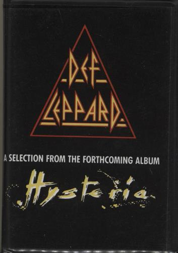 Def Leppard A Selection From The Forthcoming Album Hysteria cassette album UK DEFCLAS754081