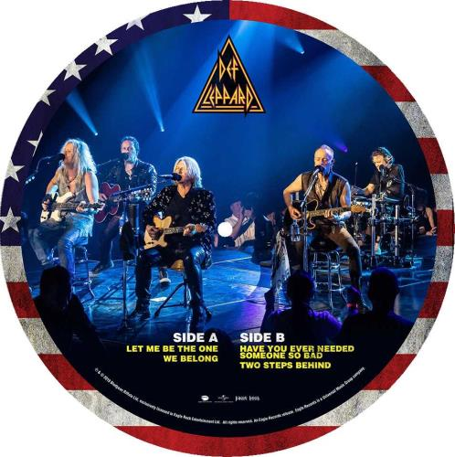 """Def Leppard Acoustic In Vegas 10"""" Vinyl Picture Disc (10"""" Record Single) UK DEF1PAC746252"""