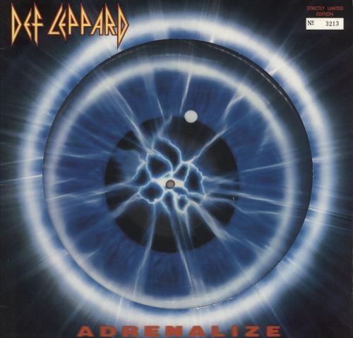 Def Leppard Adrenalize - EX picture disc LP (vinyl picture disc album) UK DEFPDAD689724