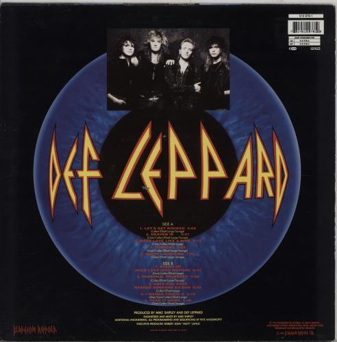 Def Leppard Adrenalize - EX vinyl LP album (LP record) UK DEFLPAD757261