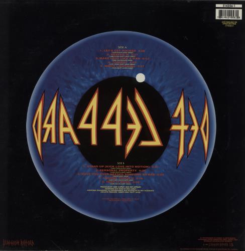 Def Leppard Adrenalize picture disc LP (vinyl picture disc album) UK DEFPDAD11321