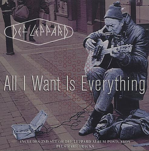 """Def Leppard All I Want Is Everything + Postcards CD single (CD5 / 5"""") UK DEFC5AL164655"""