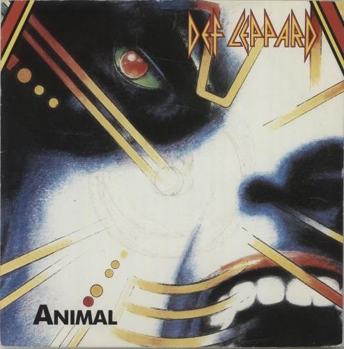 "Def Leppard Animal 7"" vinyl single (7 inch record) UK DEF07AN67241"