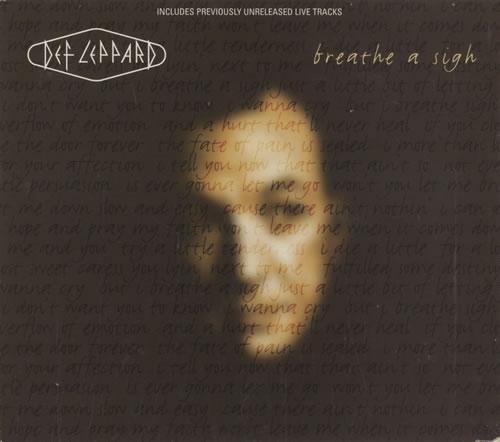 "Def Leppard Breathe A Sigh - Digipak CD single (CD5 / 5"") UK DEFC5BR76479"