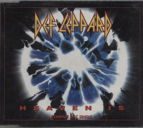 "Def Leppard Heaven Is CD single (CD5 / 5"") UK DEFC5HE11868"