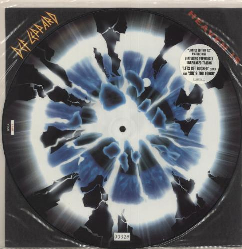 "Def Leppard Heaven Is 12"" vinyl picture disc 12inch picture disc record UK DEF2PHE13162"