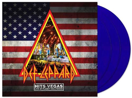 Def Leppard Hits Vegas Live At Planet Hollywood - Blue Vinyl 3-LP vinyl record set (Triple Album) UK DEF3LHI754520