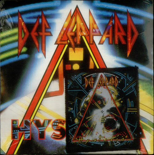 "Def Leppard Hysteria + Sew-On Patch - Sealed 7"" vinyl single (7 inch record) UK DEF07HY01374"