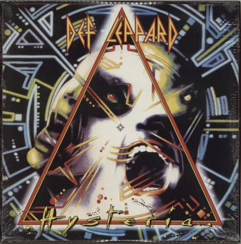Def Leppard Hysteria - Open Shrink vinyl LP album (LP record) UK DEFLPHY762659