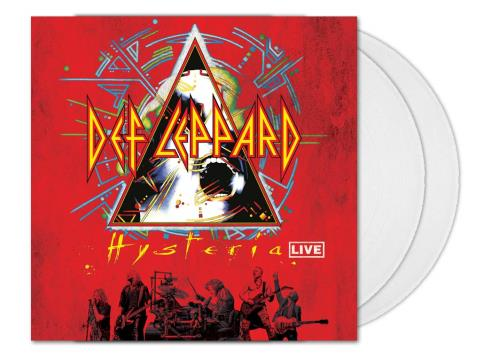 Def Leppard Hysteria Live - Crystal Clear Vinyl 2-LP vinyl record set (Double Album) UK DEF2LHY746122