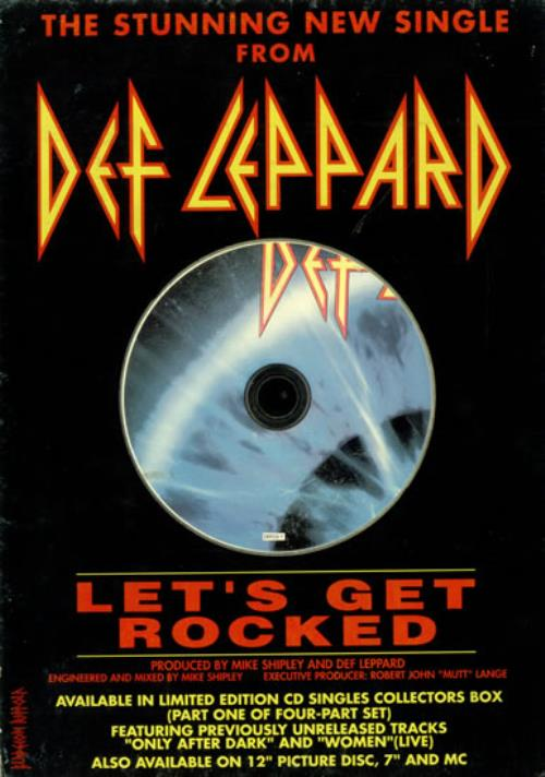 Def Leppard Let's Get Rocked - Counter Stand display UK DEFDILE03977