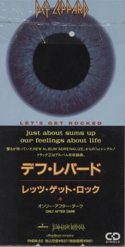 "Def Leppard Let's Get Rocked 3"" CD single (CD3) Japanese DEFC3LE135628"