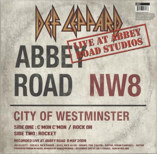 "Def Leppard Live At Abbey Road Studios - RSD18 - Sealed 12"" vinyl single (12 inch record / Maxi-single) UK DEF12LI694918"