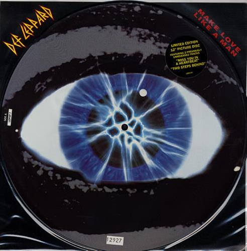 "Def Leppard Make Love Like A Man 12"" vinyl picture disc 12inch picture disc record UK DEF2PMA05973"
