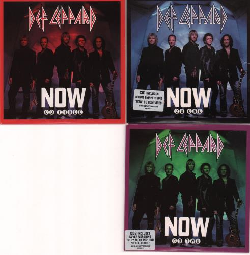 Def Leppard Now 3-CD album set (Triple CD) UK DEF3CNO219429