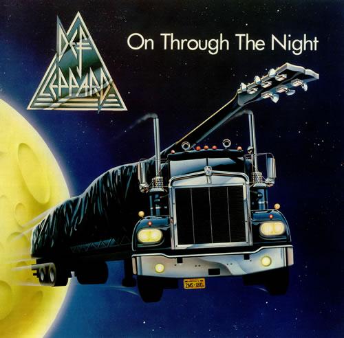 Def Leppard On Through The Night - Spaceship - EX vinyl LP album (LP record) UK DEFLPON436840