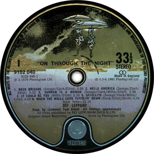Def Leppard On Through The Night - Spaceship vinyl LP album (LP record) UK DEFLPON668855