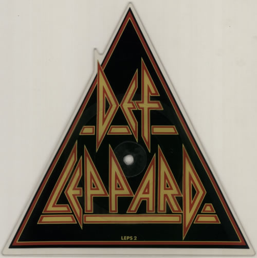 Def Leppard Pour Some Sugar On Me + Sleeve - EX shaped picture disc (picture disc vinyl record) UK DEFSHPO00619
