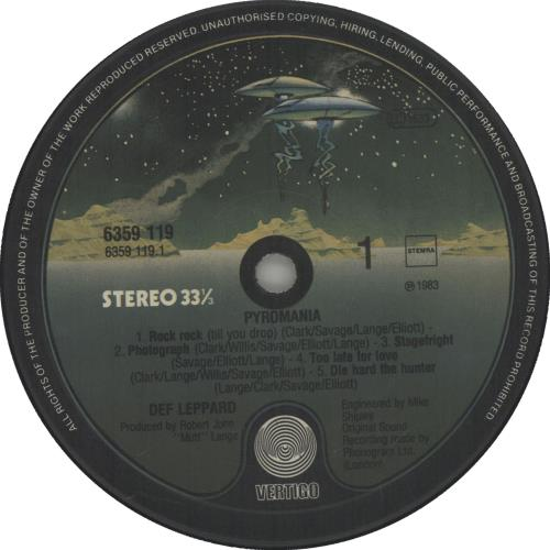 Def Leppard Pyromania vinyl LP album (LP record) Dutch DEFLPPY474603