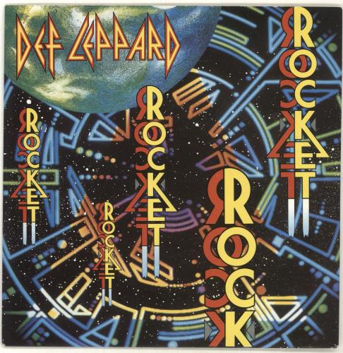 "Def Leppard Rocket - Paper label 7"" vinyl single (7 inch record) UK DEF07RO697445"