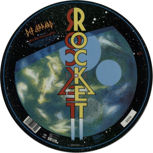 "Def Leppard Rocket 12"" vinyl picture disc 12inch picture disc record UK DEF2PRO00623"
