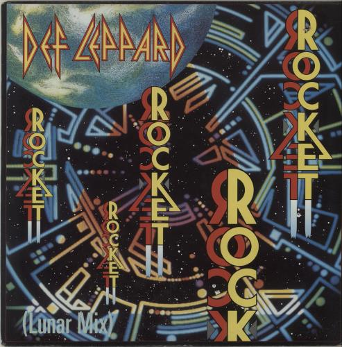 "Def Leppard Rocket 12"" vinyl single (12 inch record / Maxi-single) Canadian DEF12RO62658"