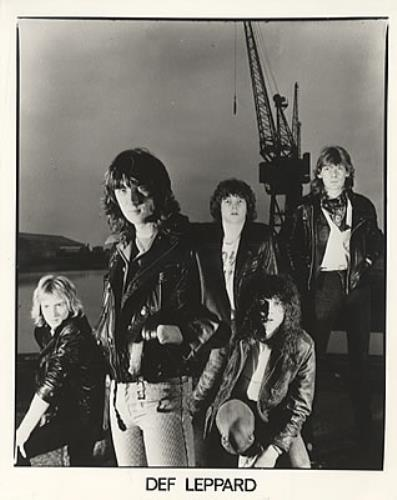 Def Leppard Set of Two Publicity PHotographs UK Promo