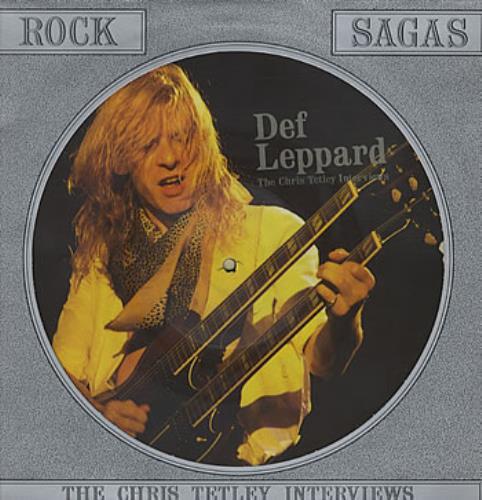 Def Leppard The Chris Tetley Interviews picture disc LP (vinyl picture disc album) UK DEFPDTH323074