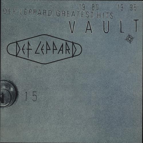 Def Leppard Vault Greatest Hits: 1980-1995 - 180gm Clear Vinyl 2-LP vinyl record set (Double Album) UK DEF2LVA707181