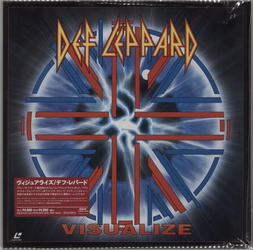Def Leppard Visualize - Sealed laserdisc / lazerdisc Japanese DEFLZVI206933