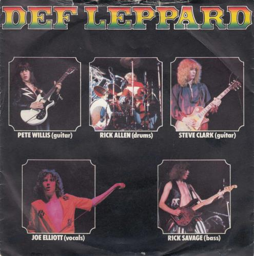 """Def Leppard Wasted + P/S 7"""" vinyl single (7 inch record) UK DEF07WA01366"""