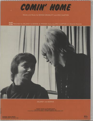 Delaney & Bonnie Comin' Home sheet music US D&BSMCO670012