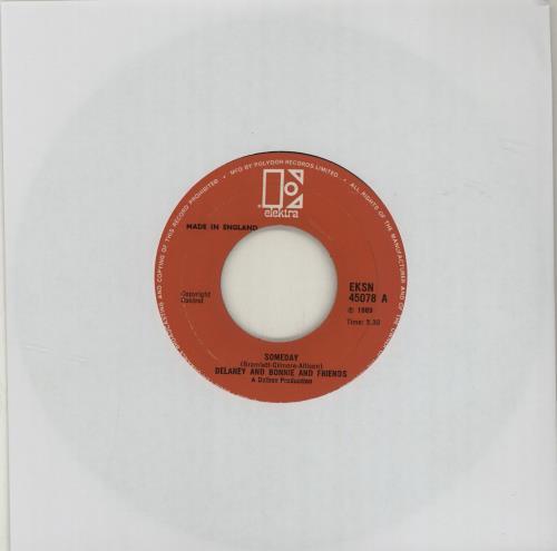 """Delaney & Bonnie Someday 7"""" vinyl single (7 inch record) UK D&B07SO116029"""