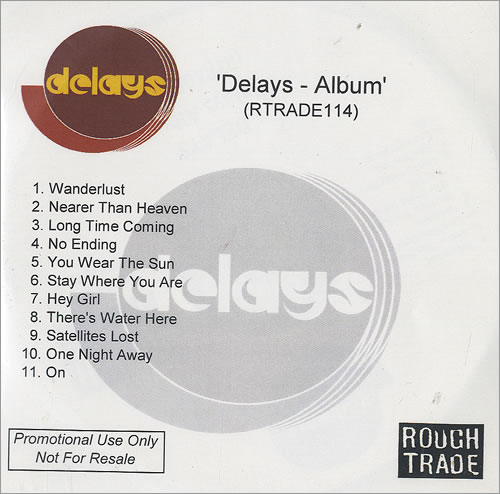 Delays Album (Faded Seaside Glamour) CD-R acetate UK D\YCRAL494033
