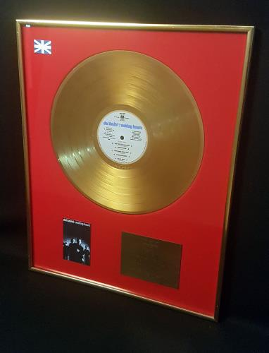 Del Amitri Waking Hours - Gold BPI award disc UK DELAWWA705984