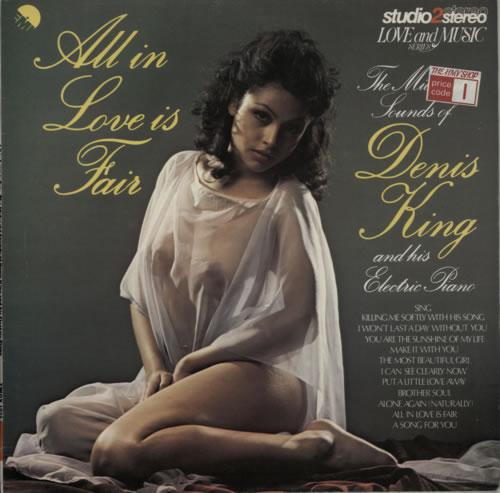 Denis King All In Love Is Fair vinyl LP album (LP record) UK F85LPAL619681