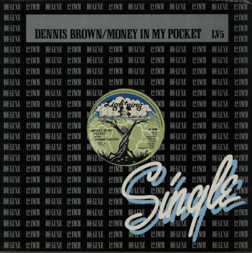"Dennis Brown Money In My Pocket 12"" vinyl single (12 inch record / Maxi-single) UK D/B12MO516047"