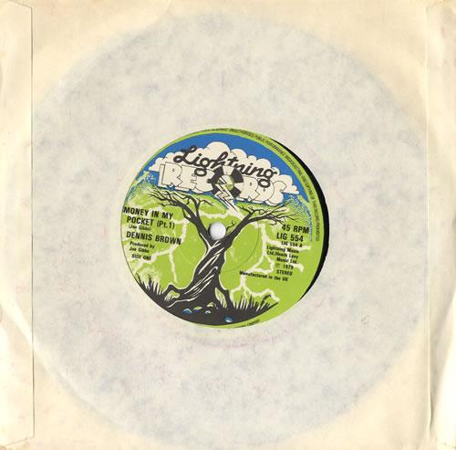 "Dennis Brown Money In My Pocket 7"" vinyl single (7 inch record) UK D/B07MO565998"