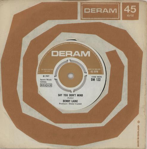 "Denny Laine Say You Don't Mind - EX 7"" vinyl single (7 inch record) UK DNY07SA607455"