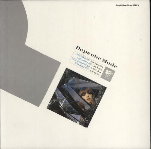 "Depeche Mode A Question Of Time - Black Vinyl 12"" vinyl single (12 inch record / Maxi-single) German DEP12AQ102625"