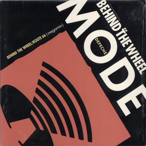 """Depeche Mode Behind The Wheel / Route 66 12"""" vinyl single (12 inch record / Maxi-single) US DEP12BE05573"""