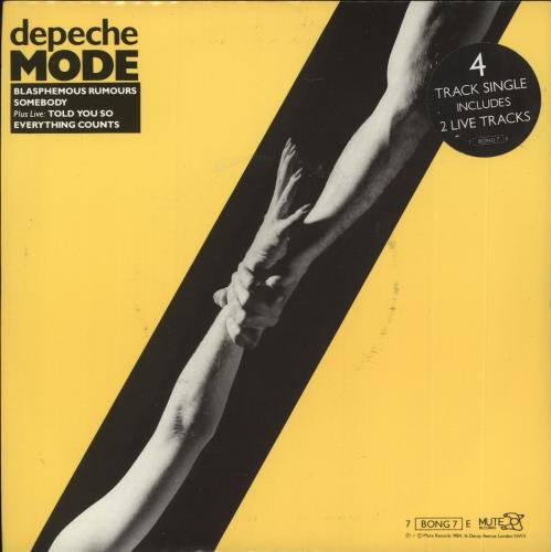 "Depeche Mode Blasphemous Rumours - Yellow sleeve 7"" vinyl single (7 inch record) UK DEP07BL707362"