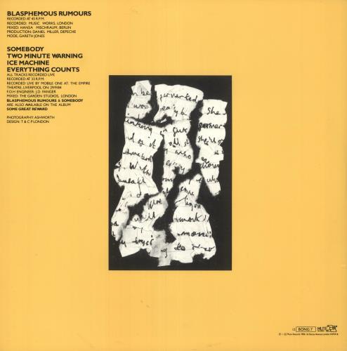 "Depeche Mode Blasphemous Rumours 12"" vinyl single (12 inch record / Maxi-single) UK DEP12BL15895"